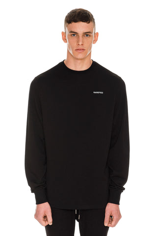 Rarefied Print Long Sleeve T-Shirt - Black
