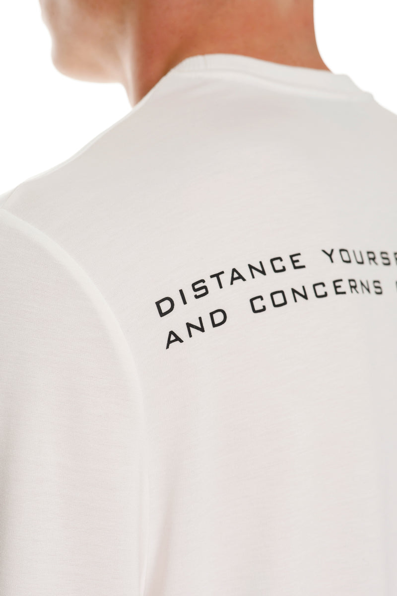 Rarefied Quote Long Sleeve T-Shirt In White With Message - Detailed View
