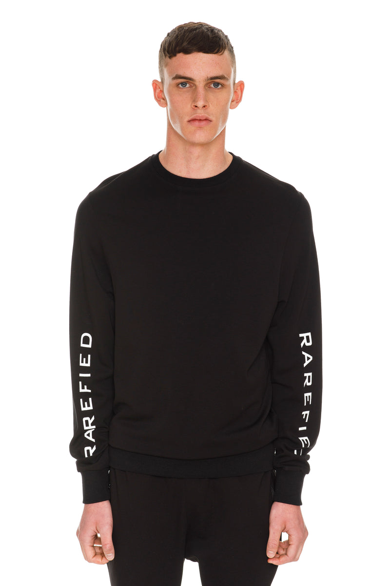 Rarefied Logo Printed Long Sleeve T-Shirt - Black