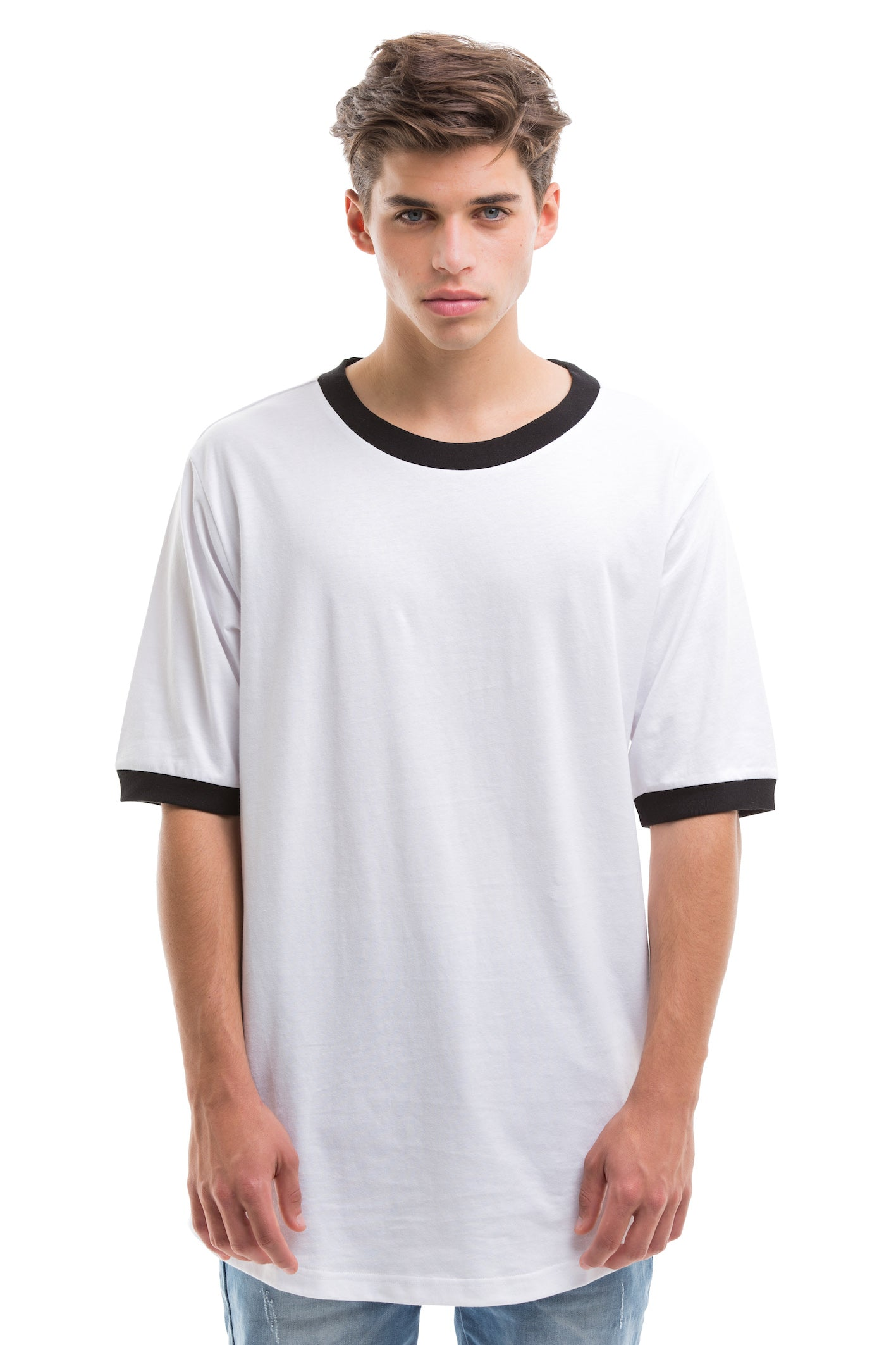 Scoop Cut Short Sleeve - WHITE