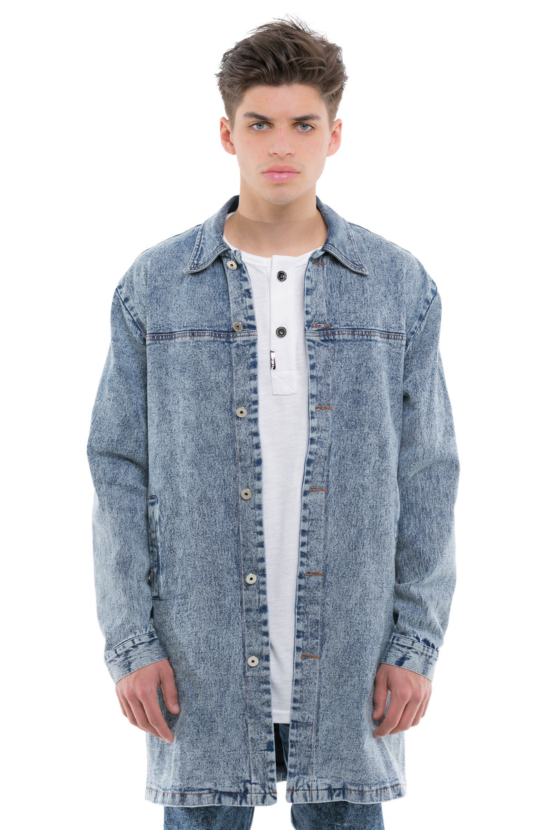Denim Coat - A Classic Collared Look