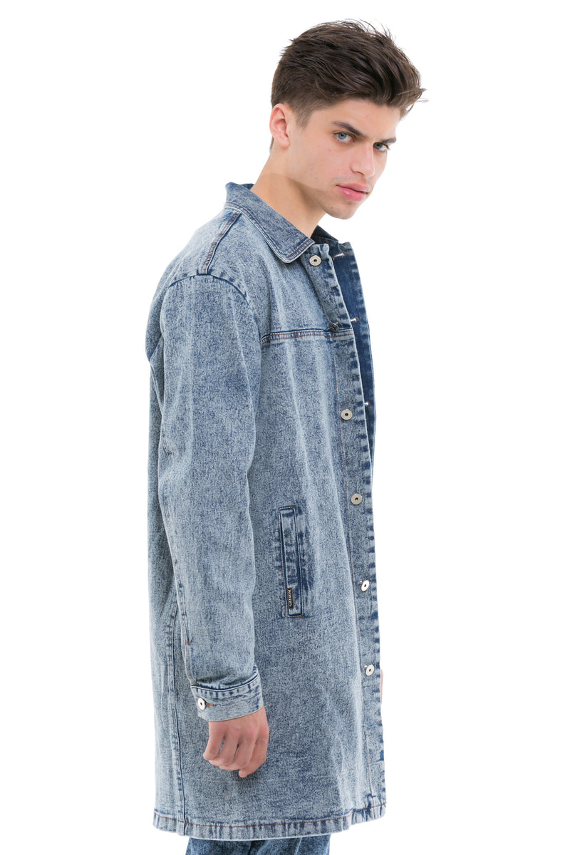 Denim Coat - Cotton Lining On The Interior