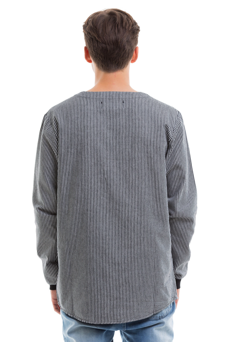 Baseball Long Sleeve Featuring Spandex Cuffs For A Relaxed Fit - Back View