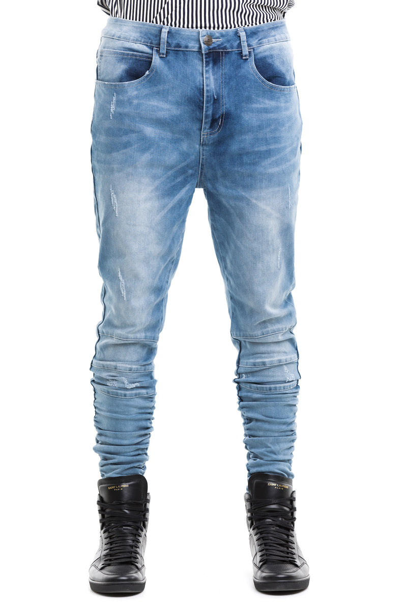 Blue  Ridge Jeans - Figured From A Mixed Cotton Blend