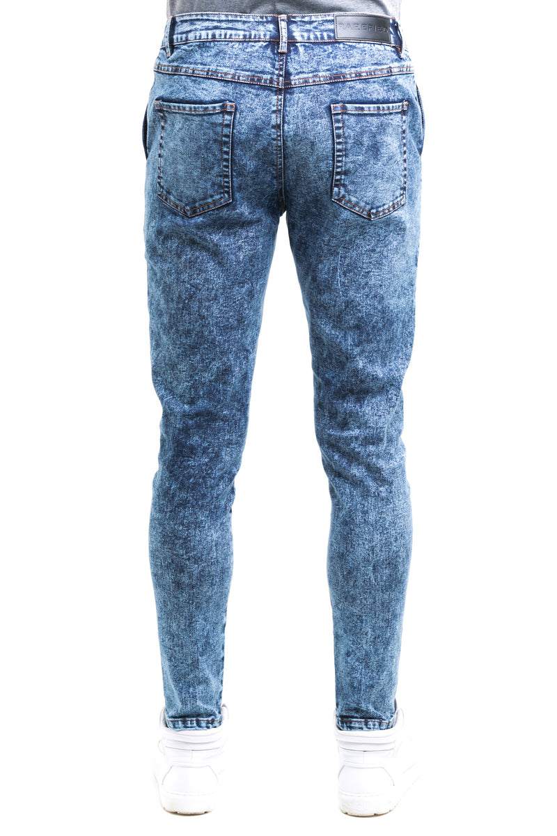Haze Jeans With Tapered Straight Cut Finish Throughout The Leg - Back Patched Pockets