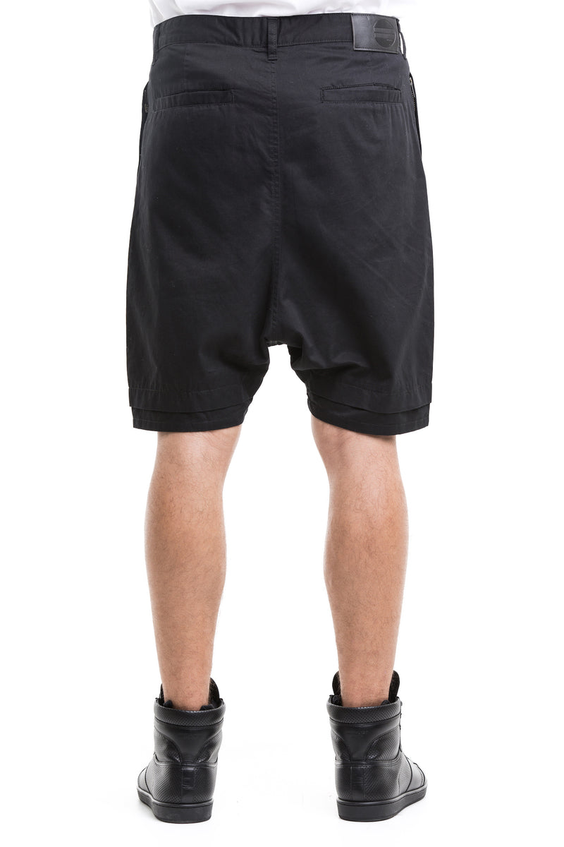 Black  Rarefied Shorts - With Of Enforced Substantial Drop Crotch
