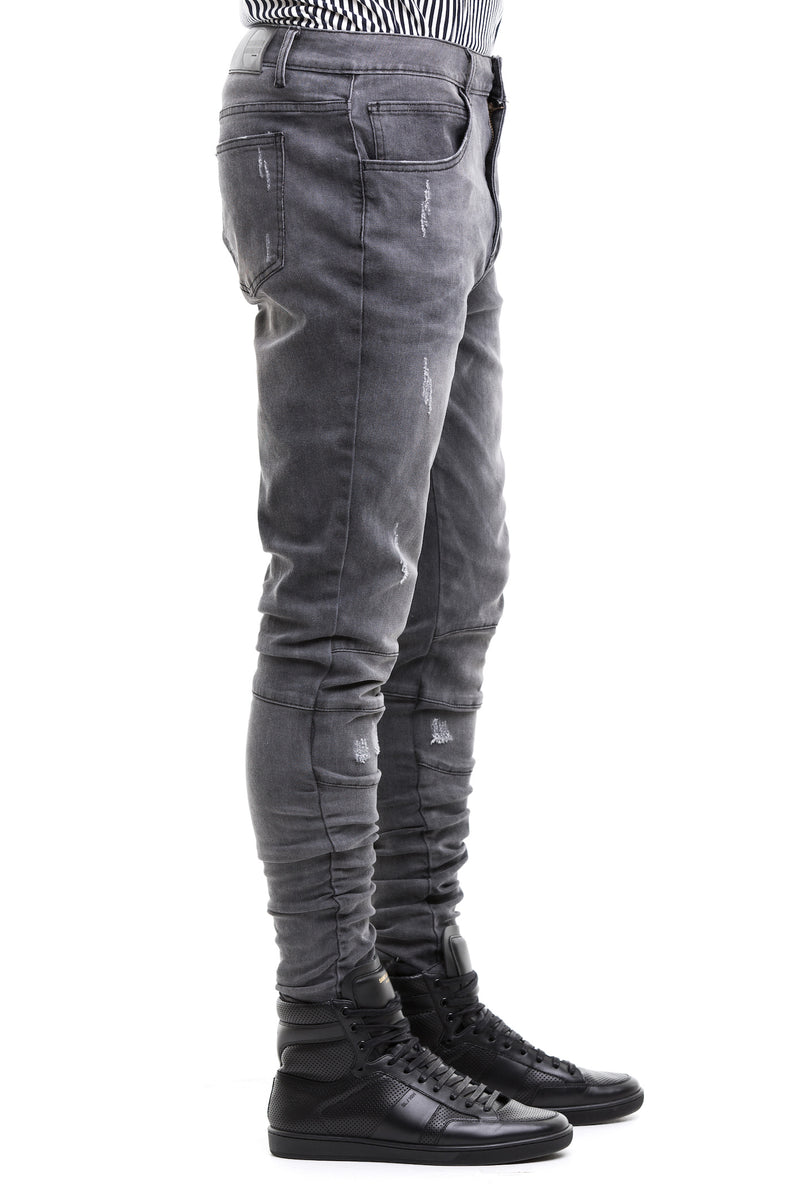 "The ""Ridge"" Jean In Black Color - Side View"