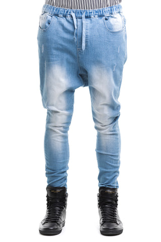 Drop Crotch Jeans - Blue