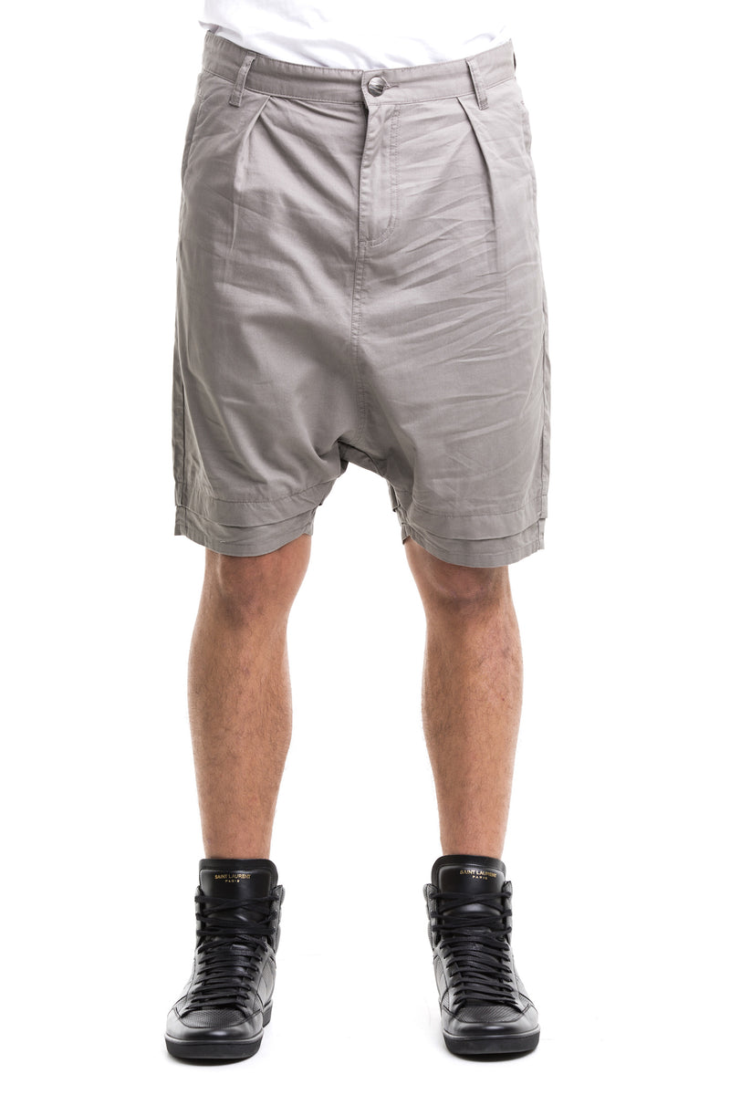Grey  Rarefied Shorts - Figured From 100% Cotton Twill Denim