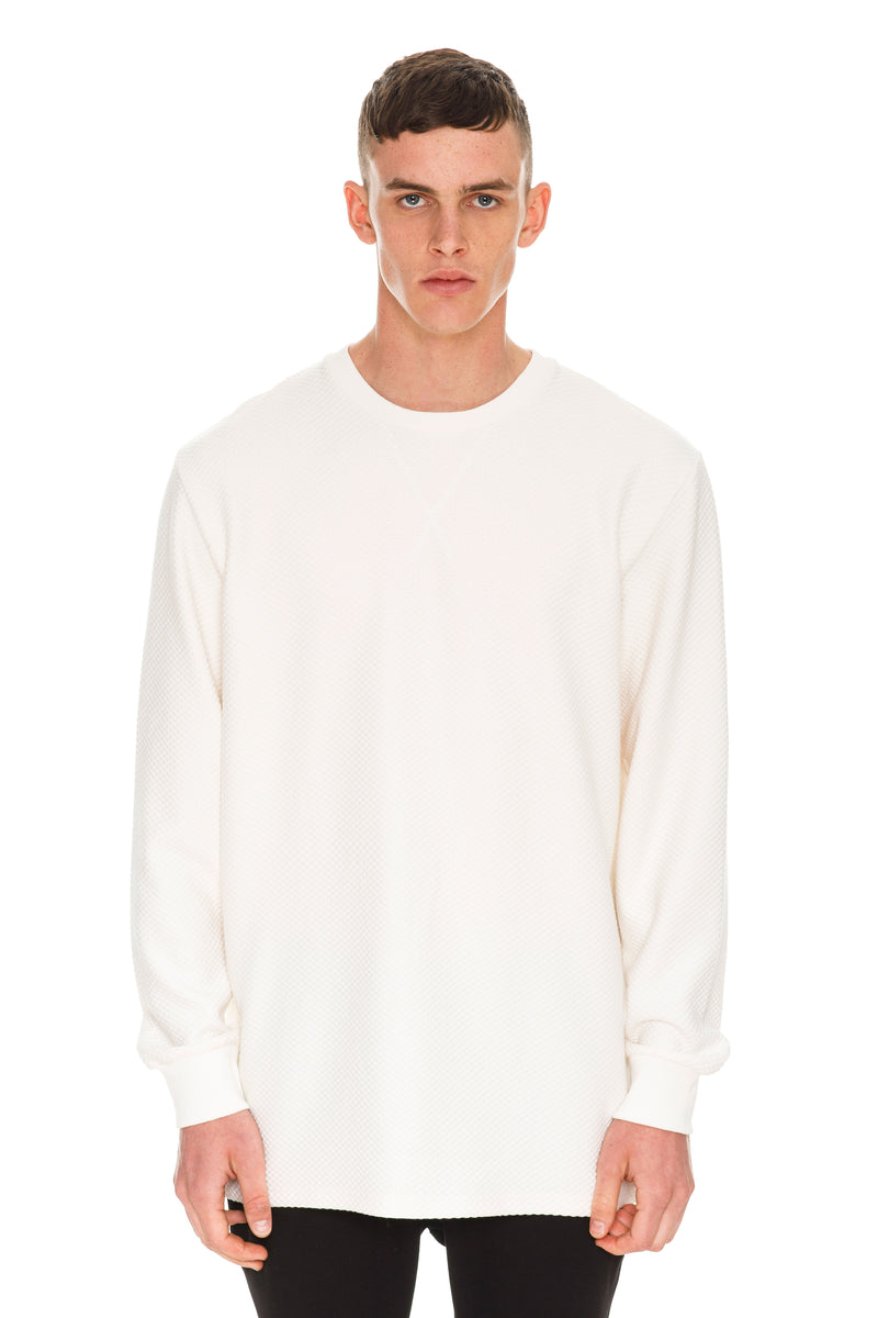 Rare Exclusive White Crew Neck Long Sleeve - Front View