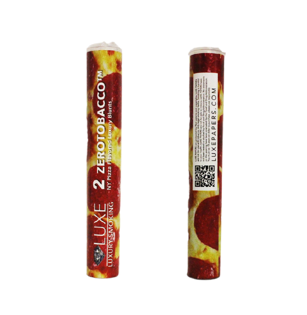 LUXE ZEROTOBACCO™ NEW YORK PIZZA FLAVORED LUXURY HEMP WRAPS