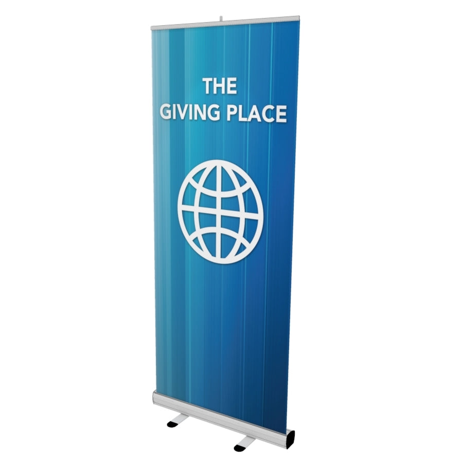 "Stand Up Banner (Retractable) 77"" X 33"""