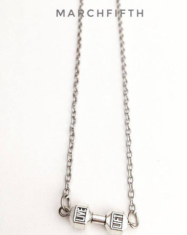 """LIVE LIFT"" dumbbell Necklace"
