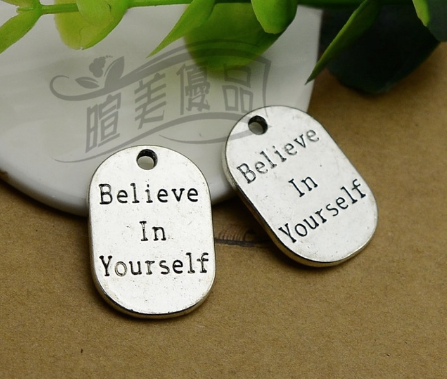 Believe in Yourself charm (1piece)