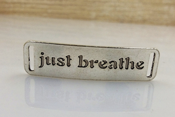 - JUST BREATHE - 1 pc Charm