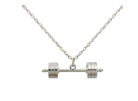 3D Barbell necklace