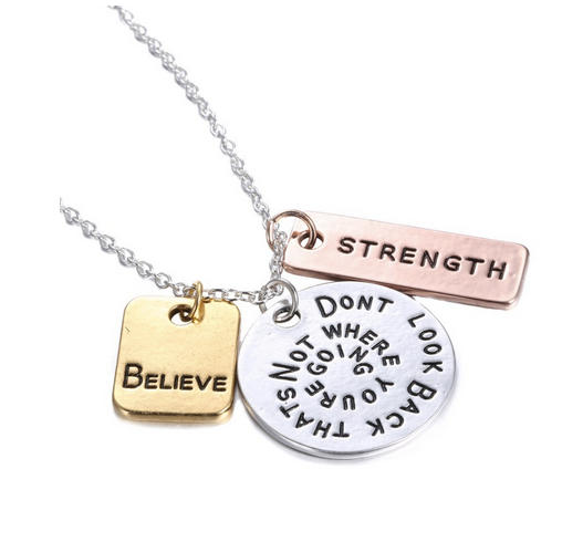 Inspirational Personalized hand stamped Necklace