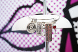 Expandable Bangle Motivational Charms