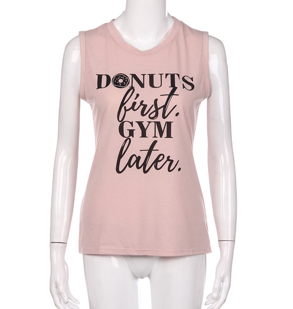 Donuts First Gym Later Tank Top