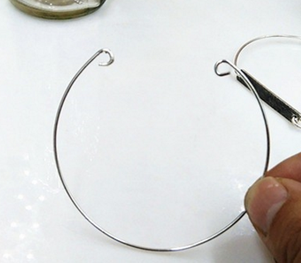 Expandable Wire Bangle Bracelet For Beading Or Charm DIY part 1 piece
