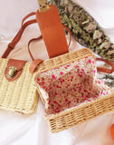 Bali Square Rattan Beach Bag