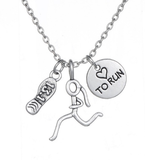 RUNNING Charms Necklace