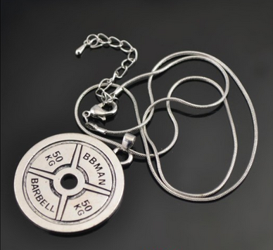 Train Hard or Go Home - Charm Necklace Fitness Workout
