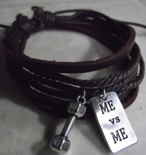 Dumbbell + MEvsME leather bracelet