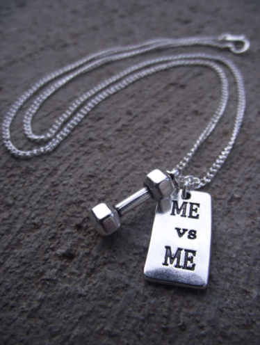Dumbbell + MEvsME necklace