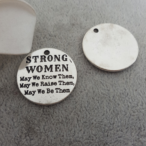 1 pc STRONG WOMEN Charm