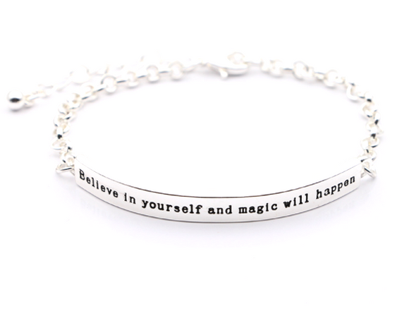 Believe in Yourself and Magic will happen Bracelet