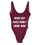 Work out, Make Money, Drink Wine One piece