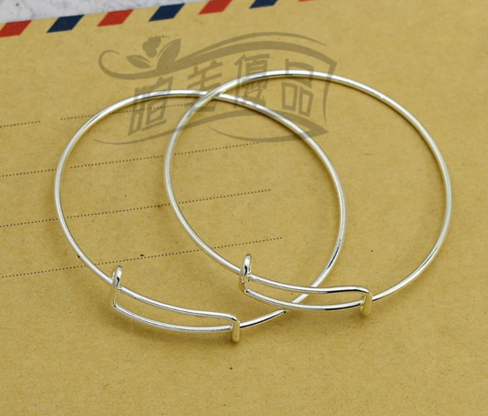 Expandable Silver Wire Bangle 1 piece