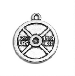 25lbs weight plate vintage charm