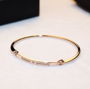 Believe in Yourself Cuff Bracelet