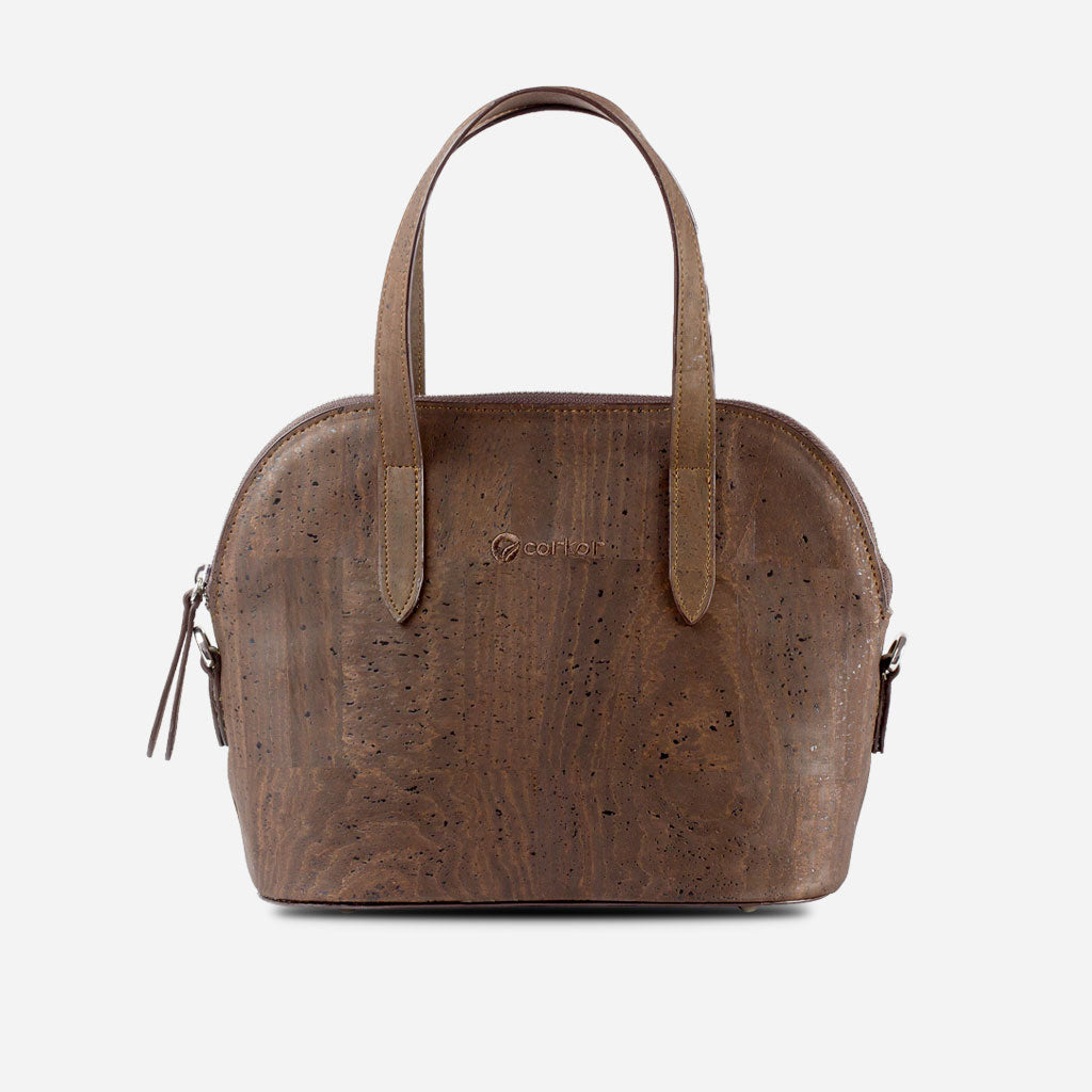 Cork Crossbody Purse Brown