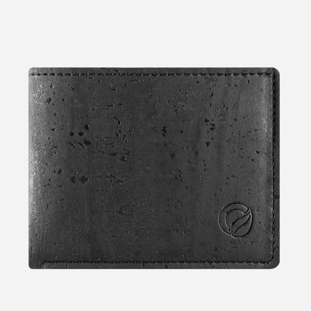 Cork Wallet With Coin Pocket black