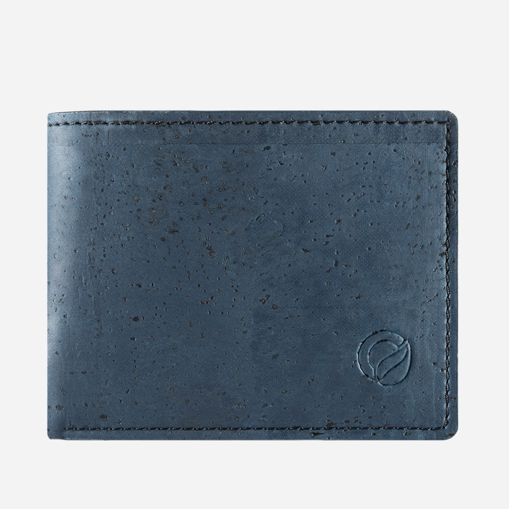 Cork Wallet With Coin Pocket Blue