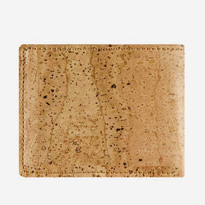 Cork Wallet With Coin Pocket natural