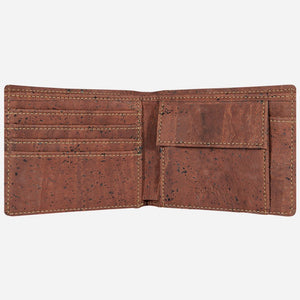 Cork Wallet With Coin Pocket Red