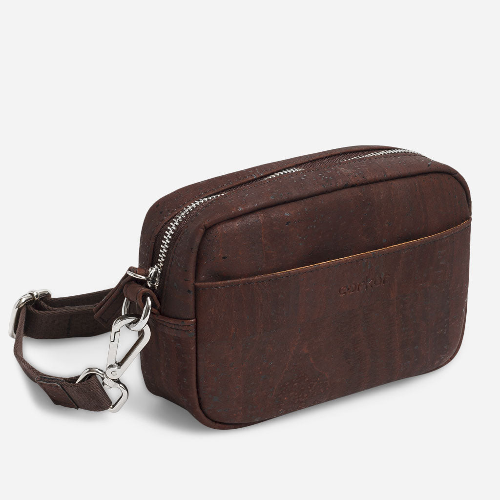 Unisex Crossbody Horizontal Brown