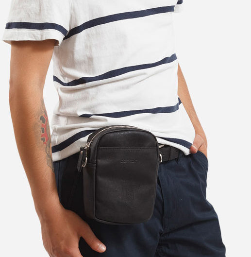 Unisex Crossbody Vertical Black