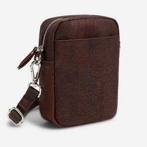 Unisex Crossbody Vertical Brown