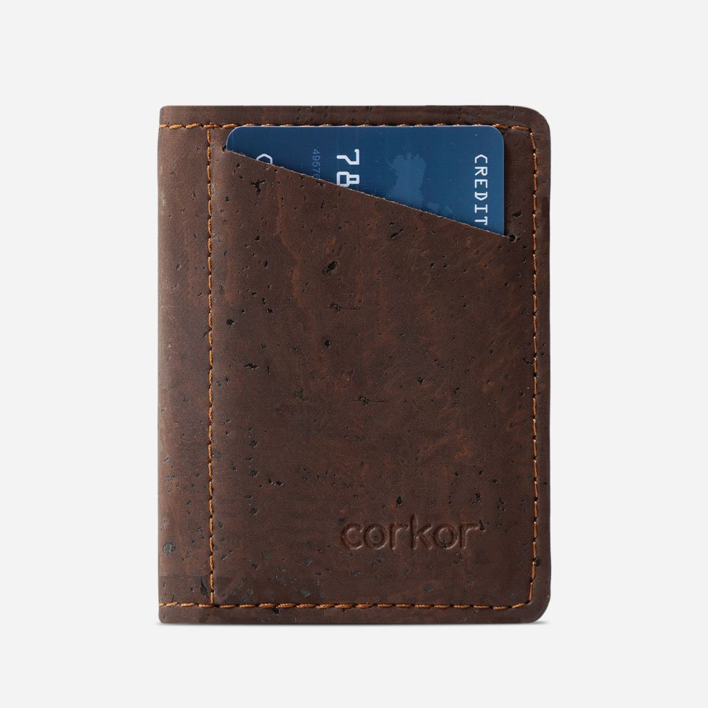 Slim Cork Wallet brown