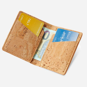 Slim Cork Wallet natural