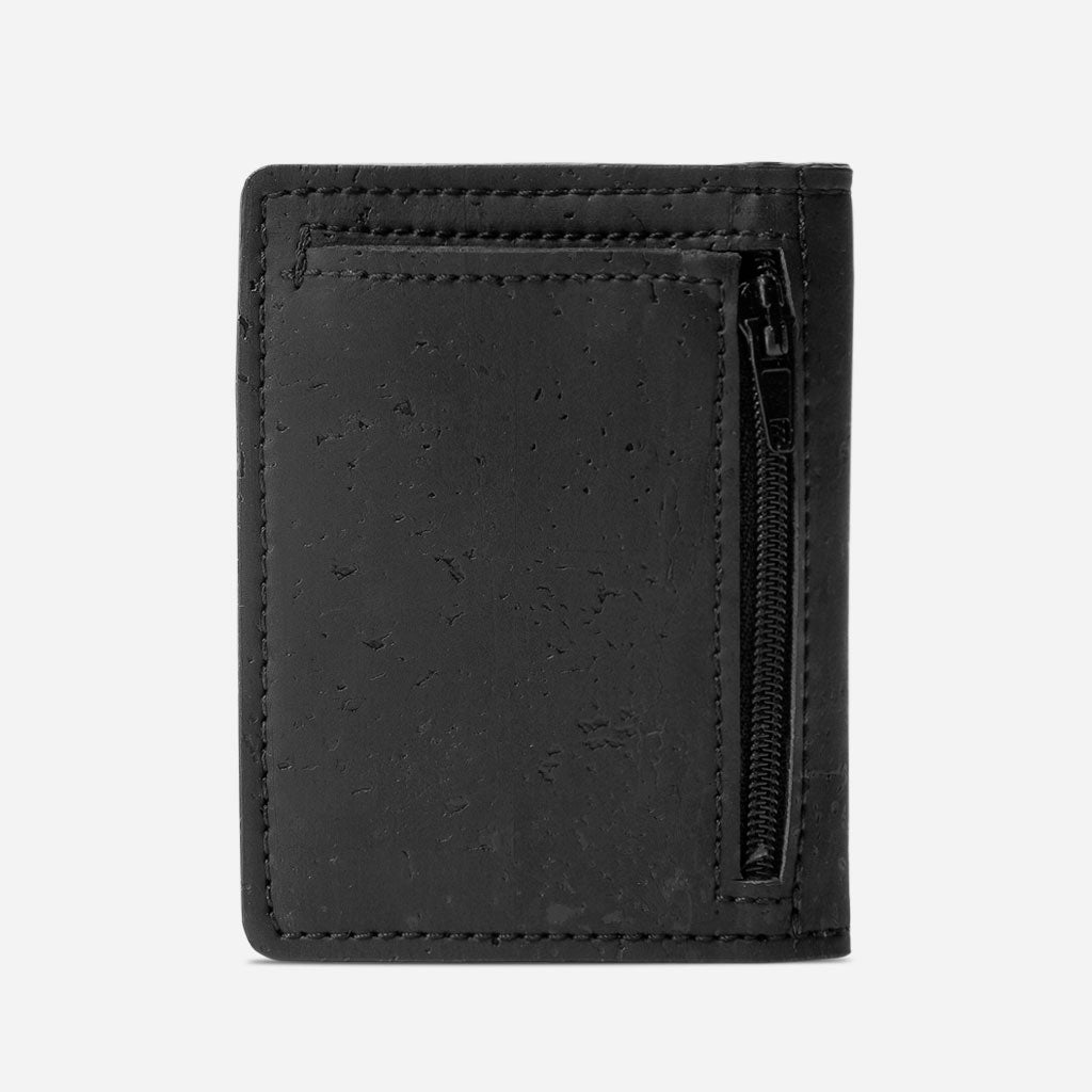 Slim Wallet Coins Pocket Black