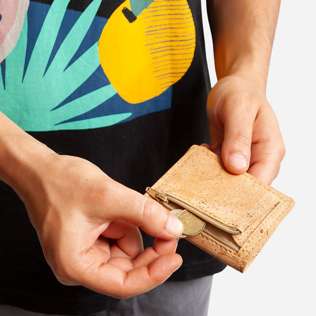 Slim Wallet Coins Pocket Natural