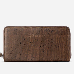 Women Cork Wallet Long Brown