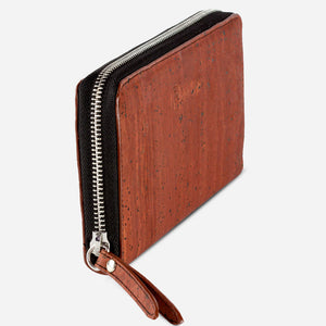 Women Cork Wallet Long Red