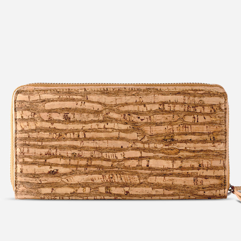 Women Cork Wallet Long Zebra